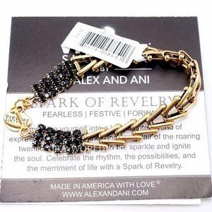 Alex And Ani Jet Gold Flapper Bracelet